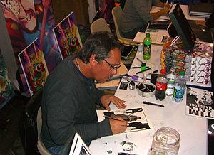 Tim Sale (artist) - Sale sketching