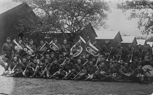 39th Infantry Division (United States) - 142nd Field Artillery Regimental Band, in France, 1918