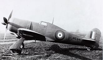 Orthochromasia - This WW II British Hawker Tornado prototype's 'Type A.1' RAF roundel's outermost, chrome yellow ring renders as dark gray, due to orthochromasia.