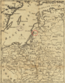1757 Memel detail of map Russians March to Prussia BPL 14326.png