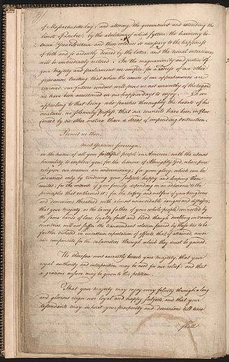 Petition to the King - Image: 1774 Address to the King