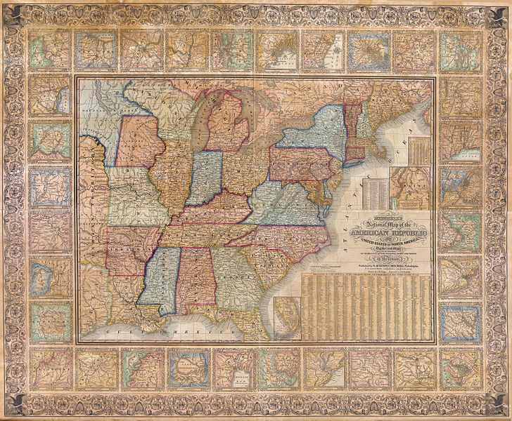 Maps From Geographicus The Public Domain Review - Map of the united states with cities