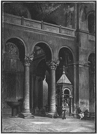 Frank Hill Smith - Image: 1871 Chapel of the Crucifix Saint Marks Venice by Frank Hill Smith MFA Boston