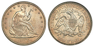 Coinage Act of 1873 - Under an 1853 act, depositors could no longer have their metal struck into half dollars.