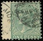 1876 1d wmk SA left South Australia Yv36 Mi48.jpg