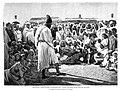 1894-02-08, La Ilustración Española y Americana, Escenas populares marroquíes, Danza callejera en el zoco de Mazagán.jpg