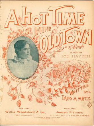 There'll Be a Hot Time in the Old Town Tonight - Image: 1896hottimeh