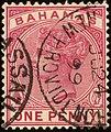1899 1d Bahamas Nassau New Providence Yv40 SG48.jpg