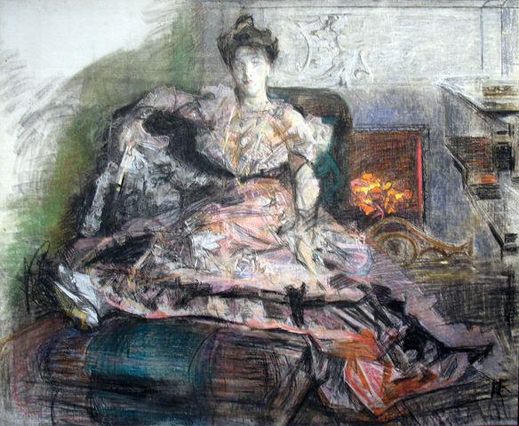 После концерта. Незаконченный портрет Н.И.Забелы-Врубель, 1905, Государственная Третьяковская галерея