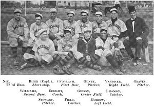 Missouri Tigers baseball - Image: 1907 Missouri Tigers Baseball Team
