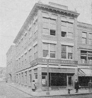 Haverhill Gazette - Haverhill Gazette building, Merrimack Street, Haverhill, Massachusetts, 1919