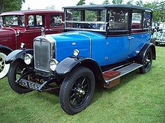 Hillman 14 - 6-light coachbuilt saloon registered November 1926