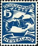 1928 Summer Olympics stamp of the Netherlands equestrian.jpg