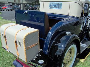 Trunk (car) - Early automobiles had provision for an external trunk mounting as on a 1931 Ford Model A, in addition to the rumble seat