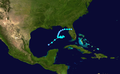 1953 Atlantic tropical storm 8 track.png