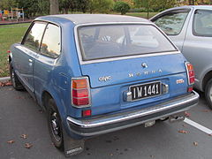 The 3 Door Rear Hatch Opens Above License Plate