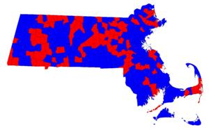 United States Senate election in Massachusetts, 1982 - Image: 1982 MA Senate