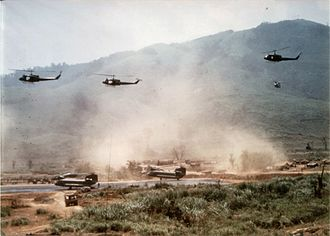 Battle of Signal Hill Vietnam - 1st Cav forces at LZ Stud during Operation Pegasus