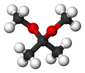2,2-Dimethoxypropane - Image: 2,2 dimethoxypropane 3D balls