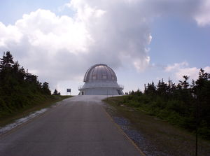 Mont Mégantic - Dome of OMM's 1.6 m telescope.