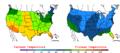 2007-10-30 Color Max-min Temperature Map NOAA.png