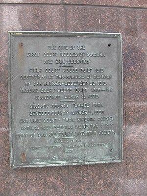 Buffalo & Erie County Public Library - Image: 20080307 Erie County Court House landmark plaque