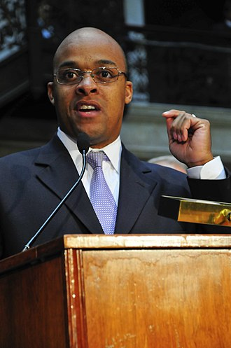 Antoine Thompson - New York State Senator Thompson speaks at a Barack Obama rally at the Erie County Democratic Headquarters (October 29, 2008)