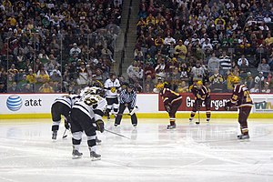 Colorado College versus the University of Minn...