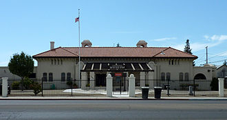 Porterville, California - The Porterville Historical Museum occupies the old Southern Pacific Railroad depot, constructed in 1913.