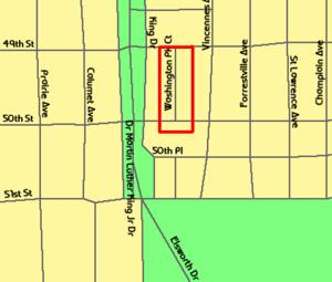 Washington Park Court District - Image: 20090101 Washington Park Court District Map