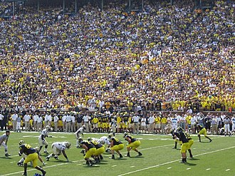 2009 Michigan Wolverines football team - Michigan offense led by Tate Forcier against the 2009 Western Michigan Broncos football team.