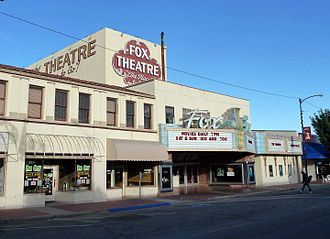 Taft, California - The Fox Theatre, downtown Taft.