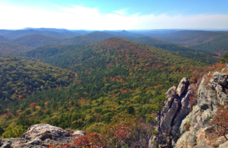 Ouachita Mountains - The Ouachita Mountains from Flatside Pinnacle