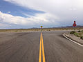 2014-07-30 14 30 42 View south at the south end of Nevada State Route 376 (Tonopah-Austin Road) at U.S. Route 6 in Nye County, Nevada.JPG
