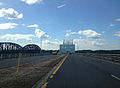 2014-08-28 14 21 05 View west crossing the Castleton Bridge over the Hudson River.JPG