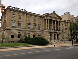 2014-08-30 11 07 51 View of Mercer County Court House in Trenton, New Jersey from the east.JPG