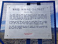 2014-09-15 09 21 36 Historical marker for the Ward Mining District - Silver Ore along U.S. Routes 6, 50 and 93 at White Pine County Route 16 south of Ely, Nevada.JPG