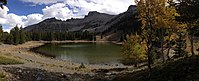 2014-09-15 15 43 53 Panorama of Stella Lake and Wheeler Peak along the Alpine Lakes Trail in Great Basin National Park, Nevada.JPG