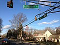 2014-12-30 14 54 07 Traffic light at the intersection of Lawrence Road (U.S. Route 206) and Vanderveer Drive in Lawrence, New Jersey.JPG