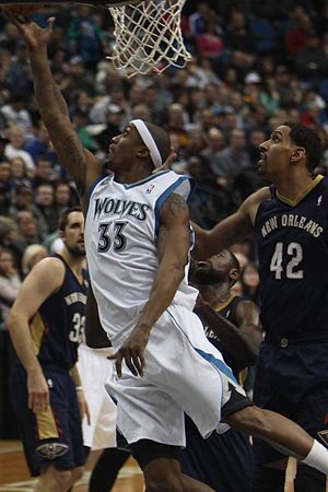 Dante Cunningham - Cunningham (front) with the Timberwolves in January 2014