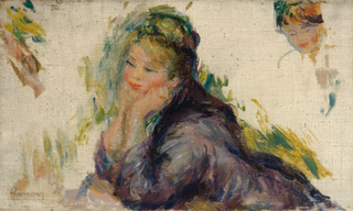 Woman Leaning on Her Elbows