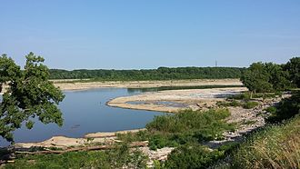 Falls of the Ohio State Park - View of the fossil bed from the overlook