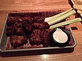 2017-10-04 21 29 29 Honey-barbecue boneless buffalo wings with ranch dressing and celery stalks at the Applebee's on Virginia State Route 7 (Harry Byrd Highway) in Countryside, Loudoun County, Virginia.jpg