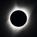 The solar eclipse at full totality