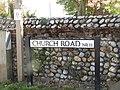 2018-05-07 Street name sign, Church Road, Trimingham circular walk, Trimingham, Norfolk.JPG
