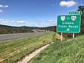 2018-10-12 11 42 48 View west along Interstate 66 at Exit 13 (Virginia State Route 79 TO Virginia State Route 55, Linden, Front Royal) in Apple Mountain Lake, Warren County, Virginia.jpg