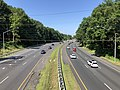 2019-07-12 10 10 05 View west along Interstate 495 (Capital Beltway) from the overpass for the Bethesda Trolley Trail on the edge of Bethesda and North Bethesda in Montgomery County, Maryland.jpg