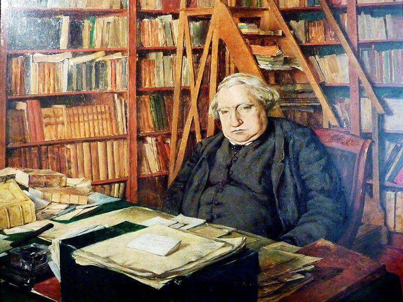 Datei:20 Tréguier Autre portrait d'Ernest Renan -dans son bureau-.JPG