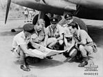 2 Squadron RAAF Hudson aircrew Hughes NT Mar 1943 AWM NWA0193.jpg