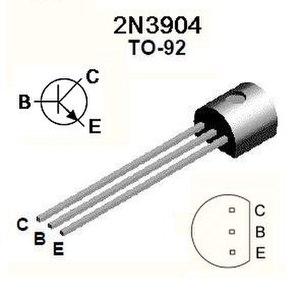 2N3904 - Pinout of 2N3904 in TO-92 package